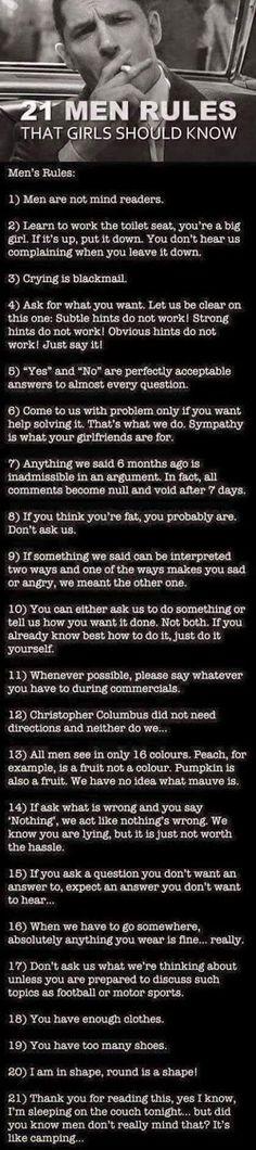 21 Men Rules