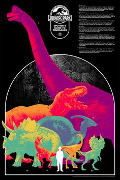New Info-Rama Posters by Kevin Tong, Tom Whalen, and Matt Taylor from Mondo Jurassic Park Poster, Jurassic Park Trilogy, Jurassic Park 1993, Jurassic Park World, Tom Whalen, Michael Crichton, Omg Posters, Movie Posters, Woody Y Buzz