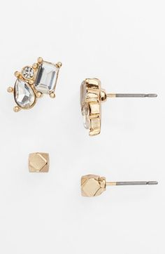 Leith 'Treasure Box' Stud Earrings (Set of 2) available at #Nordstrom