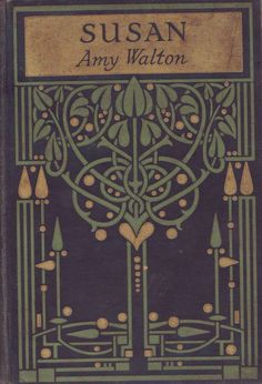 Art Nouveau Glasgow School book design (An original highly-stylized Art Nouveau design for a book binding, attributed to leading Glasgow. Motifs Art Nouveau, Azulejos Art Nouveau, Design Art Nouveau, Art Nouveau Tiles, Art Design, Book Cover Art, Book Cover Design, Book Design, Book Art