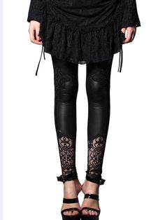 Shop  - Black Printed Sexy Skinny Leg Pant online. Discover unique designers fashion at StyleWe.com.