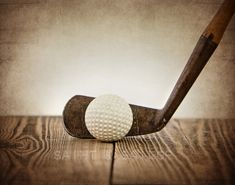 Vintage Golf Club and Ball from Saint