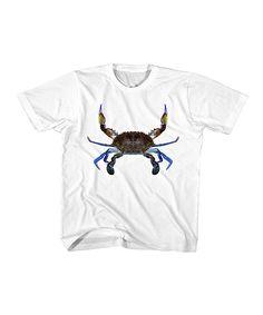White Crab Tee - Toddler & Kids