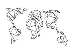 Canvas Wall Art and Canvas Art Prints Online Tape Art, Geometric Drawing, Geometric Art, Geometric Animal, Geometric Earth Tattoo, Geometric Designs, Origami Easy, Origami Owl, Art Mural