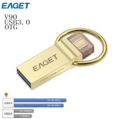 Eaget v90 Gold OTG usb 3.0 usb flash drive Smart Phone Tablet 64GB 32GB 16GB pen drive External Storage pendrive For Android PC