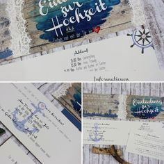 14 best einladung images on Pinterest | Nautical wedding, Wedding ...