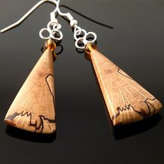 wood jewelery | wooden earrings from spalted oak stunning wooden jewelry can be ...