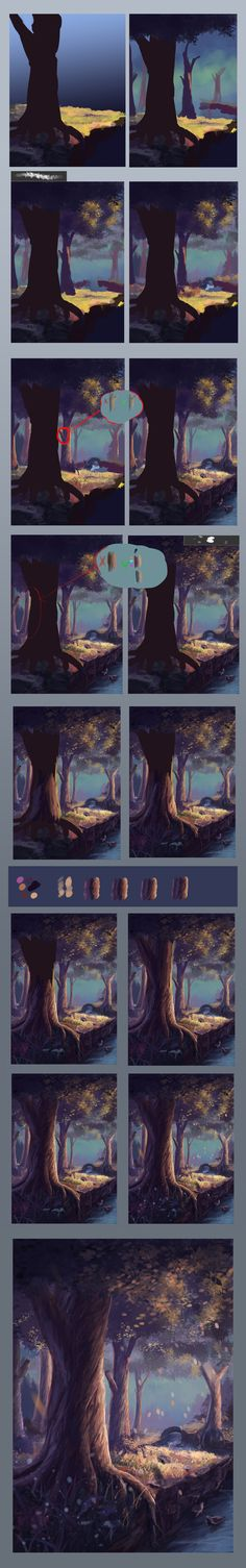 Step by step #2(fairy tree) by Sylar113.deviantart.com on @deviantART