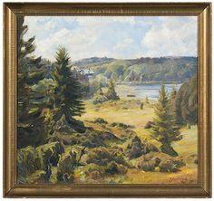 Johannes Grenness - Landscape, 1937, Oil on Canvas on MutualArt.com