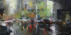 Out of the Tunnel by Mark Lague Oil ~ 8 x 16