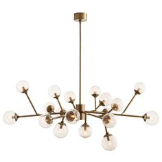 """island  we're having him check on this but i think it is the same as the one we saw in the store 58"""" wide 18 bulbs 25W"""