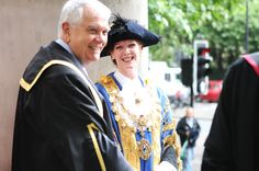 Graduation 2013: Lord Burns with the Lord Mayor of Westminster. © Royal Academy of Music, June 2013