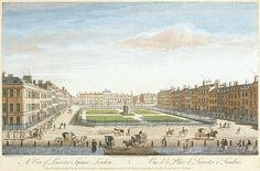 A View of Leicester Square, Thomas Bowles, 1753.
