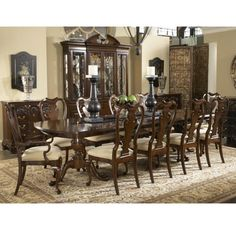 Fredericksburg Dining Table Category: Rectangular Style: Traditional Collection: American Cherry Classic antique styling featuring updated scale, function and beauty for today's home. Product ID: 1020