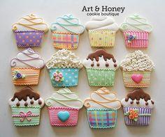 cookies N cupcakes Diy Decorating diy home projects ideas Fancy Cookies, Iced Cookies, Cute Cookies, Sugar Cookies, Iced Biscuits, Cookies Et Biscuits, Cookie Icing, Royal Icing Cookies, Cupcakes Decorados