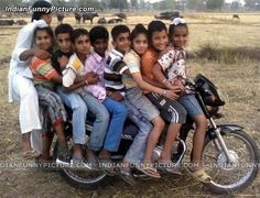 Overloaded Bike with children's