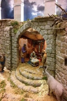 Jill R.'s media statistics and analytics Diy Nativity, Christmas Nativity Scene, A Christmas Story, Christmas Art, Christmas Crib Ideas, Christmas Tree Decorations, Modelos 3d, Ceramic Houses, Christmas Crafts