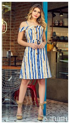 Look Book Fashion. Linen Dresses, Cute Dresses, Casual Dresses, Casual Outfits, Fashion Dresses, Summer Dresses, Western Outfits, Mode Inspiration, Casual Wear