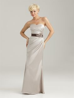 Can't quite tell what fit this dress is, but has the side element that your dress might have (Allure Bridals: Style: 1330) Empire Bridesmaid Dresses, Bridesmaid Dress Styles, Wedding Bridesmaids, Bridesmaid Ideas, Allure Bridals, Glitz Bridal, Bridal Wedding Dresses, Wedding Week, Wedding Vows