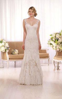 D2065 Romantic Lace Wedding Gown by Essense of Australia