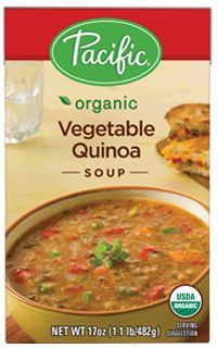 Organic Vegetable Quinoa Soup - Pacific Foods | Vegetarian Diet, Vegan Diet, Low Fat, Gluten Free, Dairy Free, Soy Free, Wheat Free, Yeast F...