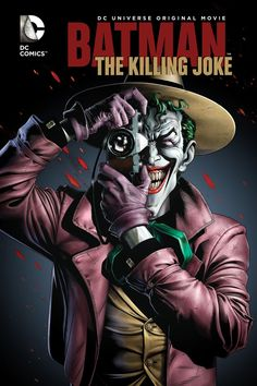 Joker Batman: The Killing Joke Poster - DC Comics - Spencer's Batman Comics, Le Joker Batman, Batman Art, Joker And Harley, Batman Logo, Harley Quinn, Batman Robin, Batman Joker Wallpaper, Gotham Batman
