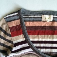 🎉Beautiful Shae Striped Cardigan Anthropologie's Shae multi colored striped cardigan with gold threading details. Lightweight, Very comfortable and worn only a few times. Size small - fits true to size. Anthropologie Sweaters Cardigans