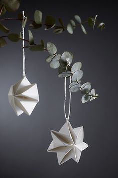 """Pleated Stars"" - brand new hand pleated Christmas... 