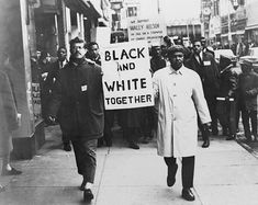Americans demand racial equality on a civil rights demonstration