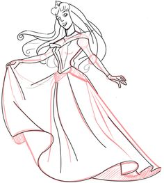 How to Draw Sleeping Beauty with Step by Step Drawing Lessons « How to Draw Step by Step Drawing Tutorials