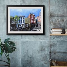 """Contemporary painting of downtown Raleigh, NC - """"Raleigh Downtown, NC"""" by David Shingler available at Great BIG Canvas. Raleigh Downtown, City Skyline Art, Big Wall Art, Photo To Art, Framed Prints, Canvas Prints, Contemporary Artwork, Big Canvas, Living Room Art"""