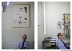 Editor Lorin Stein in the Paris Review office. Photography by Paul Barbera. #interiors