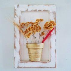 Quadros com flores secas... #artesanato #artesanal #decoração #decorar #decoracao #quadro #floresecas