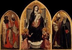 Masaccio, Triptyque de San Giovenale, 1422. Tempera sur panneaux, volets : 88 x 44 cm, panneau central : 108 x 65 cm. Cascia di Reggello, église paroissiale de San Pietro.