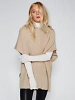 Camden Mix Ribbed Poncho at Free People Clothing Boutique
