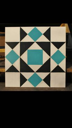 Garden Gate x Barn Quilt Square hand by stellassweetheart Barn Quilt Designs, Barn Quilt Patterns, Quilting Designs, Block Painting, Painting On Wood, Star Quilts, Quilt Blocks, Painted Barn Quilts, Barn Signs