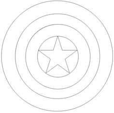 Captain America Shield Coloring Pages Captain america on pinterest