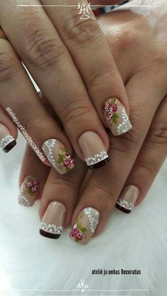 Beautiful Nail Art, Gorgeous Nails, Pretty Nails, Spring Nails, Summer Nails, Finger Art, Nails Only, French Tip Nails, Shellac Nails