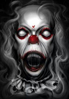 Lovely clown of gore Clown Cirque, Gruseliger Clown, Clown Horror, Joker Clown, Clown Faces, Creepy Clown, Arte Horror, Creepy Art, Creepy Circus