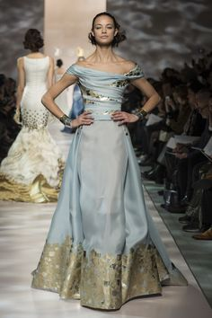~ Living a Beautiful Life ~ Georges Chakra Spring Couture 2015 Paris jαɢlαdy Style Couture, Couture Fashion, Runway Fashion, Fashion Show, Live Fashion, Paris Fashion, Fashion News, Gothic Fashion, Latest Fashion