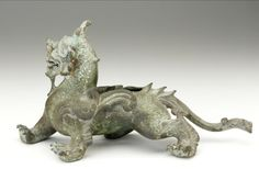 Fitting in the form of a supernatural animal  ca. 1st-2nd century Eastern Han dynasty  BronzeChina  Smithsonian Museums