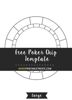 Free Poker Chip Template  Medium Size  Halloween Booth