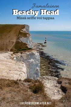 Yhtä kaunis kuin kohtalokas – jumalainen Beachy Head, missä yksikin selfie voi tappaa | www.livenowdreamlater.net British Seaside, Kayaking, Selfie, Travel Tips, Hiking, Camping, Explore, Beach, Water