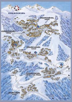 Map of Courchevel