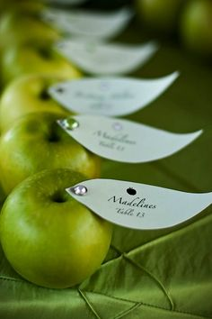 """Put apple theme poem for back to school on the leaf:  """"An apple for the teacher is really nothing new, except when you remember, parents are teachers too.""""  Give as a welcome/parent gift."""