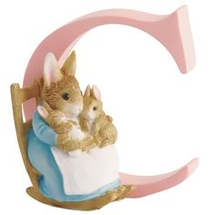 """Beatrix Potter - Letra """"C"""" para puerta, diseño de señora Coneja y conejitos Beatrix Potter http://www.amazon.es/dp/B001KM6QIW/ref=cm_sw_r_pi_dp_aceWub17RDRQV"""