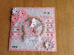 Scrapcard for 30th wedding anniversary