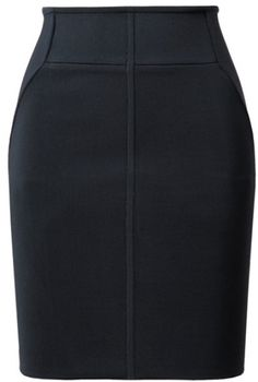Alexander Wang Microribbed Stretch Knit Pencil Skirt in Blue (dark blue) -  Lyst