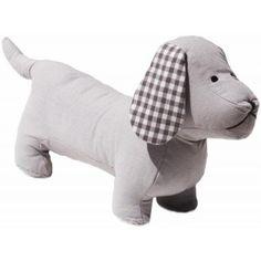 Textiles, Pugs, Dinosaur Stuffed Animal, Animals, Gray Fabric, Fabric Dolls, Sewing Patterns, Manualidades, Doggies