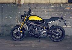The new-old-school Yamaha XSR900. Great-looking bike!